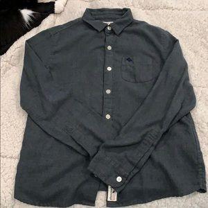 Abercrombie kids/boys button down grey shirt